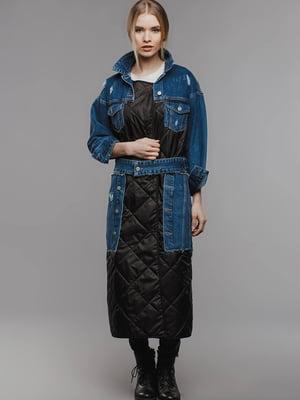 Пальто серо-синее | 5527621