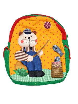 Рюкзак різнокольоровий в горошок і з декором | 5528063