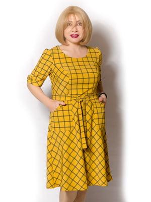 Платье желтое в ромбы | 5528079