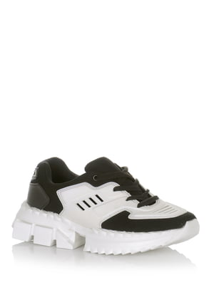 Кросівки біло-чорні | 5528099