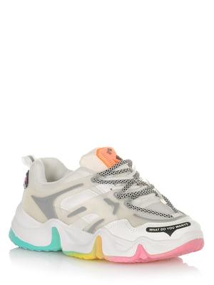 Кроссовки бело-разноцветные | 5528101