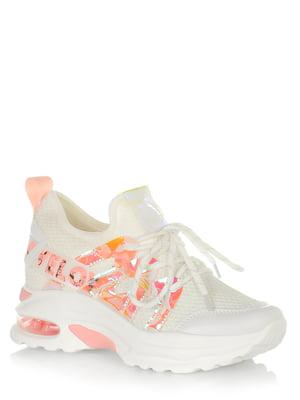 Сникерсы бело-розовые с декором | 5528123
