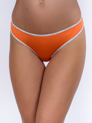 Труси-стрінги помаранчеві з логотипом   5385844