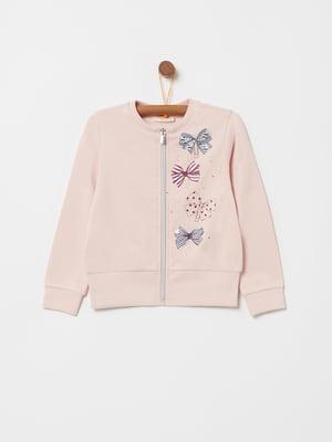 Кофта розовая с принтом | 5271576