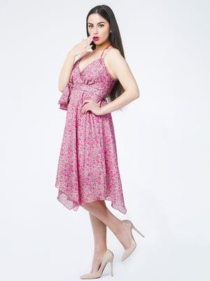 Сарафан рожевий в квітковий принт | 5530200