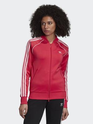 Олімпійка червоного кольору з логотипом | 5528638