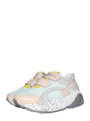 Кросівки м'ятного кольору з логотипом | 5530323