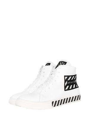 Ботинки белые с логотипом | 5530989