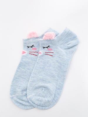 Шкарпетки блакитного кольору з малюнком   5530583