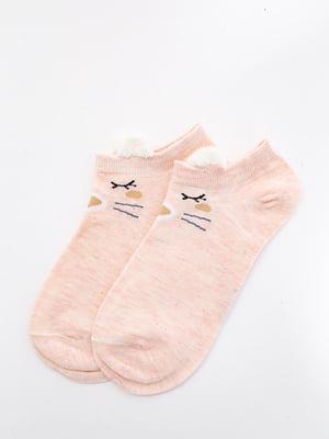 Шкарпетки персикового кольору з малюнком   5530585