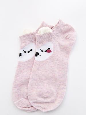 Шкарпетки рожеві з малюнком   5530586