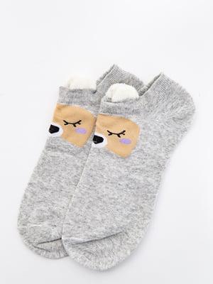 Шкарпетки сірі з малюнком   5530587