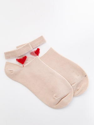 Шкарпетки бежеві з декором   5530593