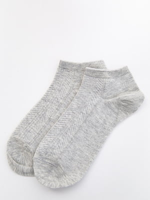 Носки серые с узором | 5530612