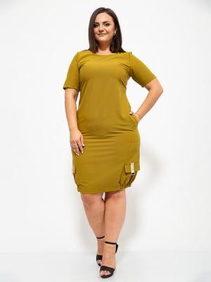 Сукня оливкового кольору | 5530655