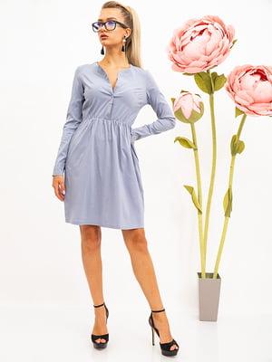 Платье стального цвета | 5530682