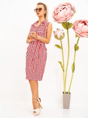 Сукня червоно-біла в смужку | 5530713