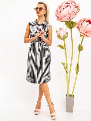 Сукня чорно-біла в смужку | 5530716