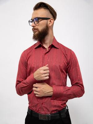 Сорочка червоного кольору з візерунком | 5530742