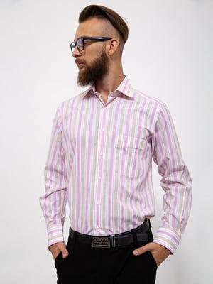 Сорочка рожева в смужку | 5530744