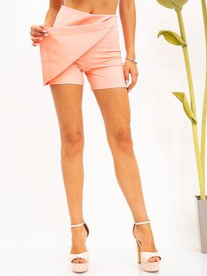 Шорти-спідниця персикового кольору | 5530855