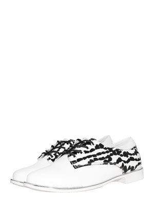 Туфлі білі в принт   5530233