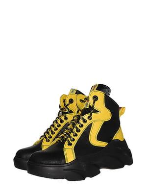Ботинки черно-желтые | 5530973