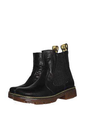 Ботинки черные с логотипом   5530974