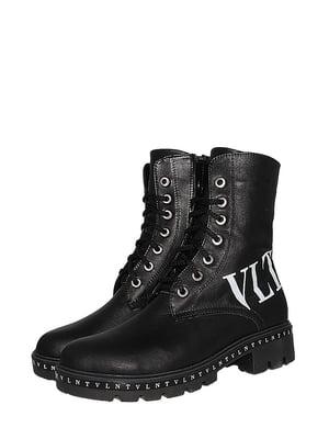 Ботинки черные в принт   5530975