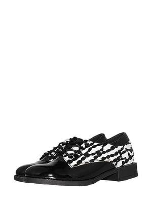 Туфлі чорно-білі в принт   5530984