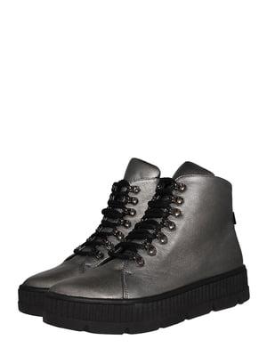 Ботинки стального цвета | 5530996