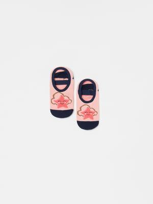 Носки розовые с рисунком | 5528908