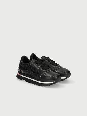 Кросівки чорні з декором-логотипом | 5529162