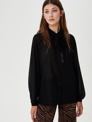 Блуза чорна з логотипом | 5529209