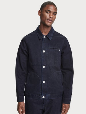 Куртка темно-синяя джинсовая   5529386