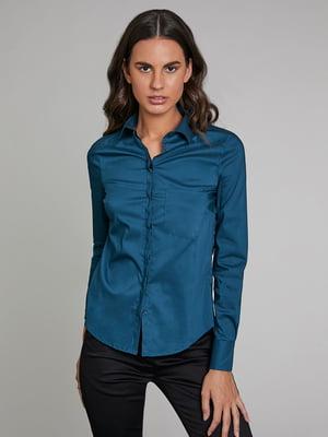 Рубашка бирюзовая | 5529694
