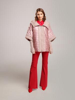 Куртка розовая с узором | 4886348