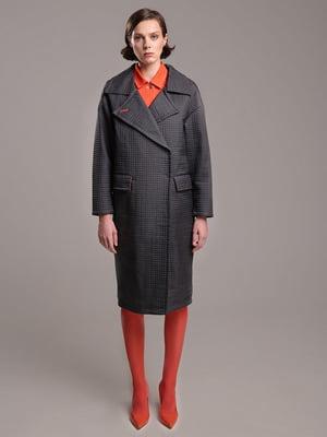 Пальто серое с узором | 4886366