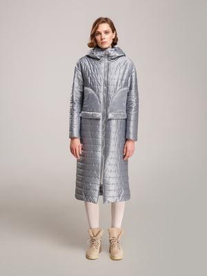 Пальто сіро-зеленого кольору   5531405
