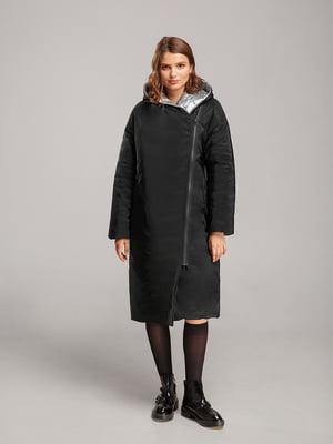 Пальто черно-серебристого цвета | 5531440