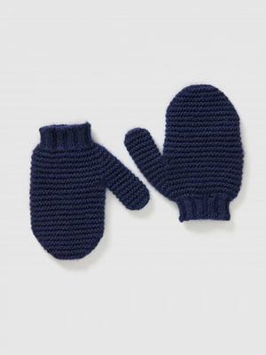 Варежки темно-синие | 5520485