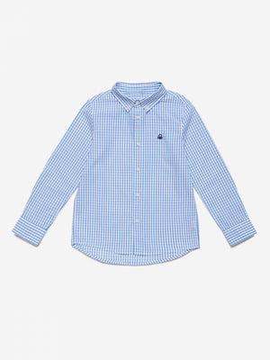 Рубашка белая в клетку | 5529462