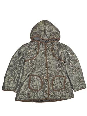Куртка коричнева з декором | 5531568