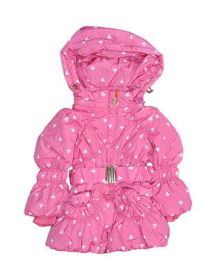 Пальто рожеве з принтом | 5531585