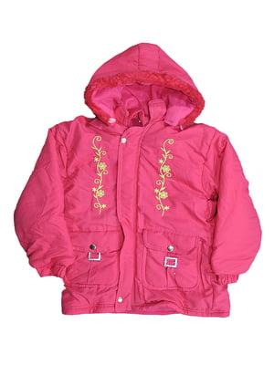 Куртка коралового кольору з малюнком | 5531570