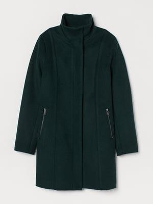 Пальто темно-зеленое | 5531183