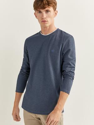 Лонгслив сине-серый | 5533530