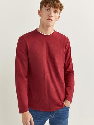 Лонгслив бордовый | 5533532
