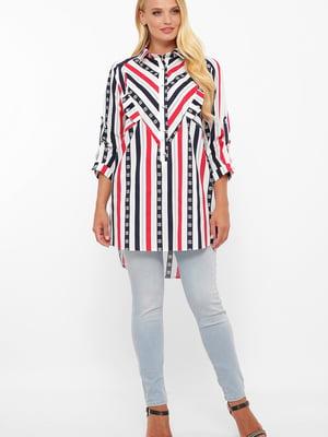 Сорочка біла у смужку   5533676