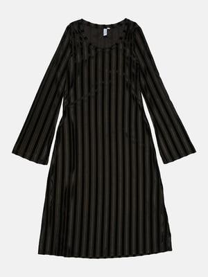 Сукня чорна смугаста | 5428616